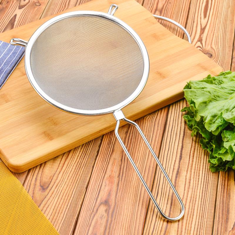 豆浆漏网过滤网筛厨房滤油网不锈钢漏勺勺滤油勺30目油格泡沫捞勺