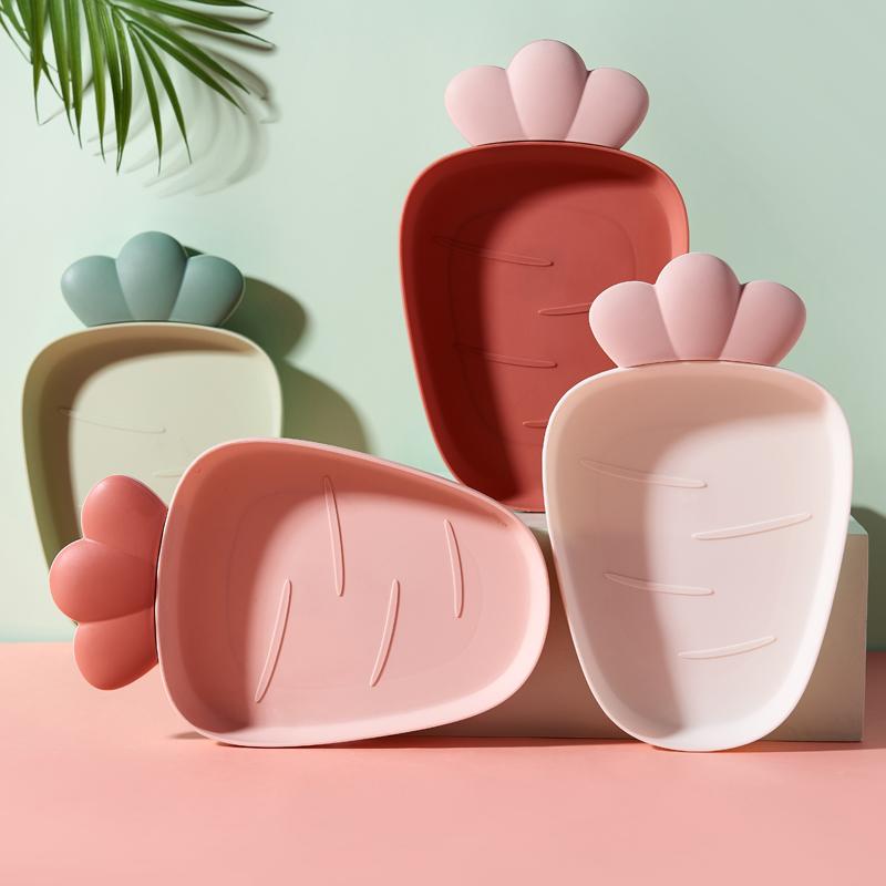 果盘家用水果盘日式客厅创意瓜子干果盘家用茶几零食糖果盘塑料子 - 图1