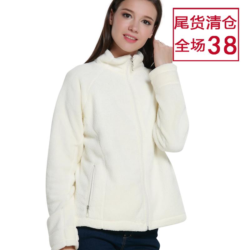 清仓女装外套羔羊绒米白色欧美码款女士时装大码尾货秋冬保暖