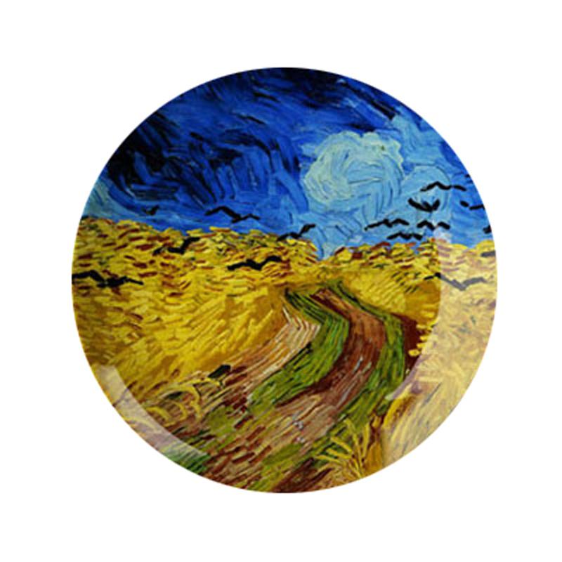 12英寸梵高油画瓷盘挂盘装饰盘子墙坐盘摆盘陶瓷盘创意家居工艺盘