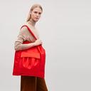 大容量 两个口袋抽绳设计单肩手提包轻便购物袋GATHERED TOTE BAG - 1