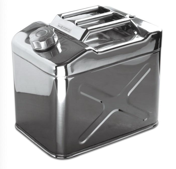 鼎升 不锈钢汽车备用油箱 柴油桶食用油桶20升汽车备用油桶
