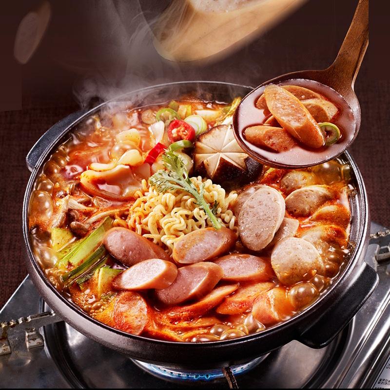 韩国部队火锅芝士年糕食材组合韩式部对锅材料底料调料酱料小套餐