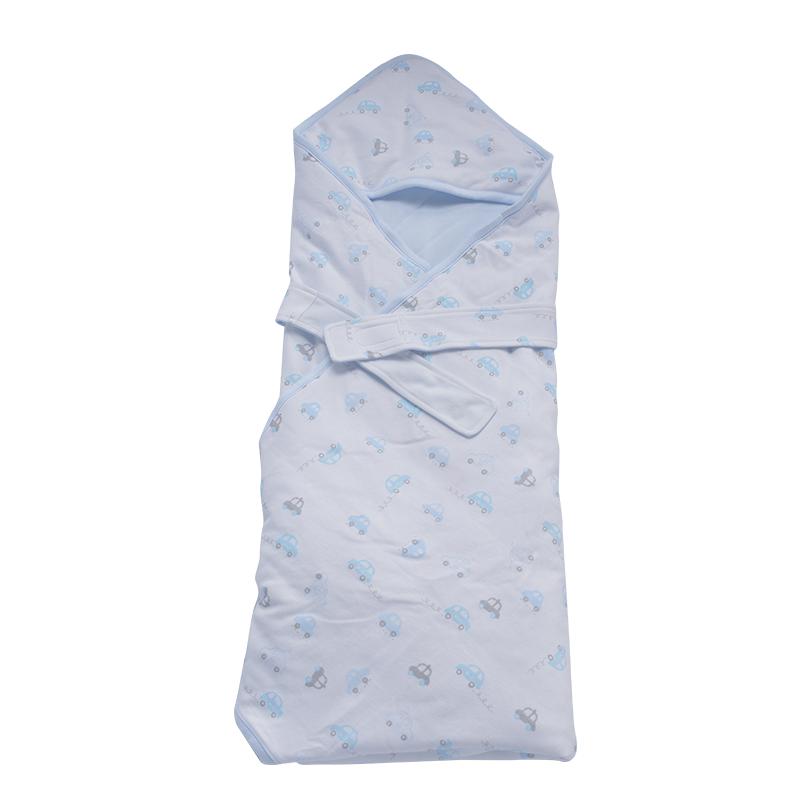 梦洁宝贝婴儿夹棉抱被新生儿抱被秋冬包毯宝宝被保暖毯子