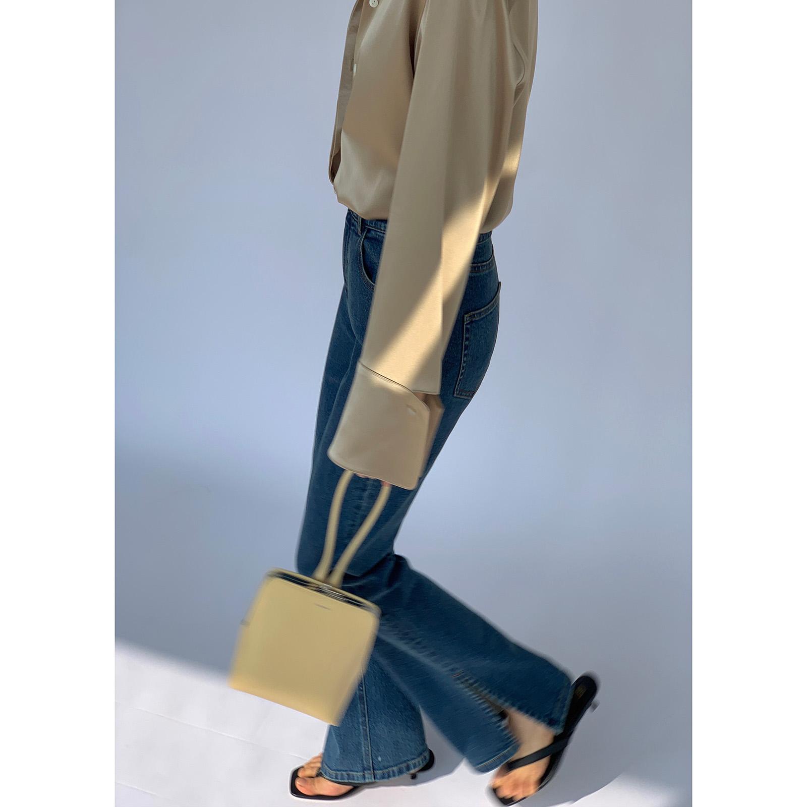 米腿精高腰复古开叉牛仔裤女微喇叭裤子 2 升级版 春季 MARYME2021