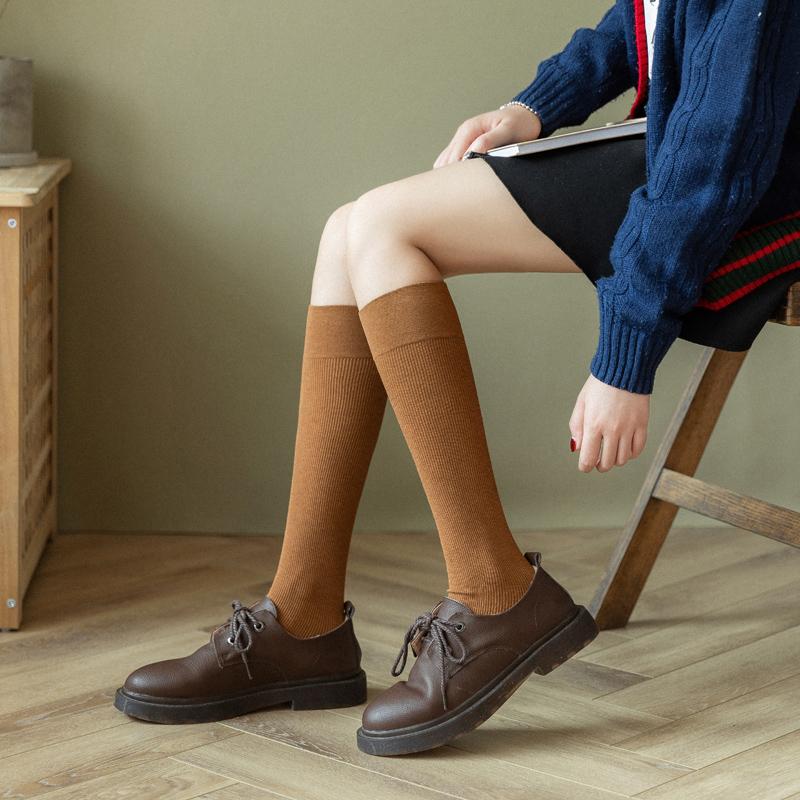 長筒襪子女日系街頭黑色小腿襪jk過膝襪潮ins秋冬中筒高筒及膝襪