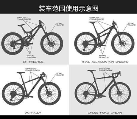 Bike Sticker Bicycle Cycling Frame Anti-Scratch Protective Stickers  SL