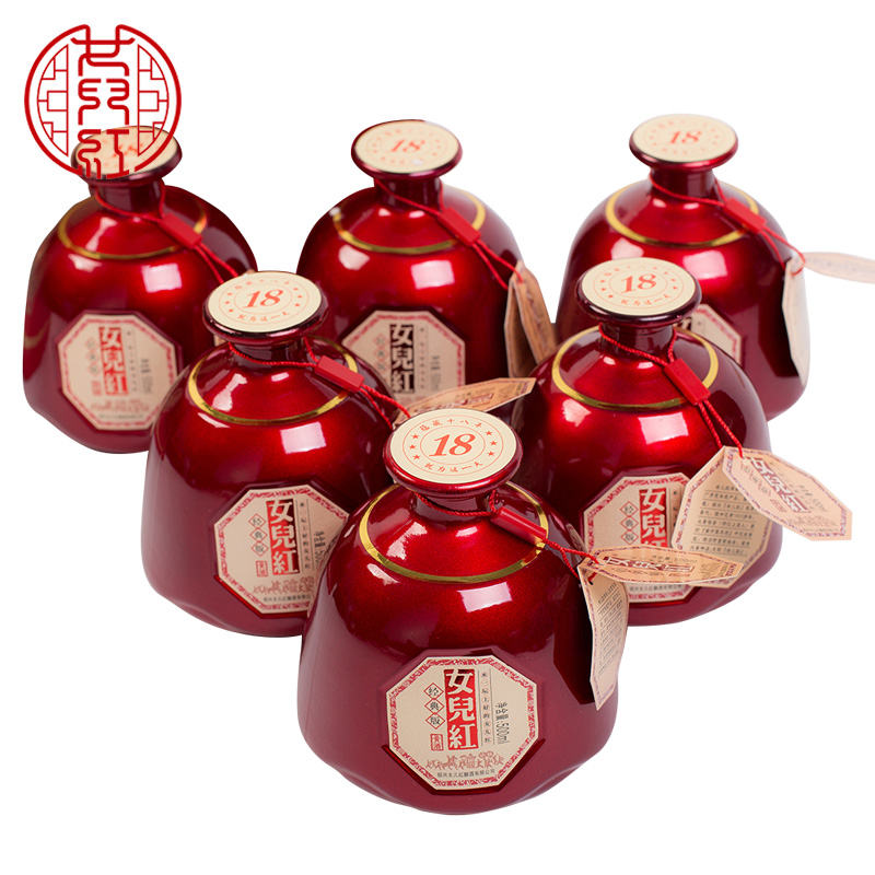 6 整箱装 绍兴女儿红黄酒 500ml 桂花林藏经典版来一坛花雕酒坛装