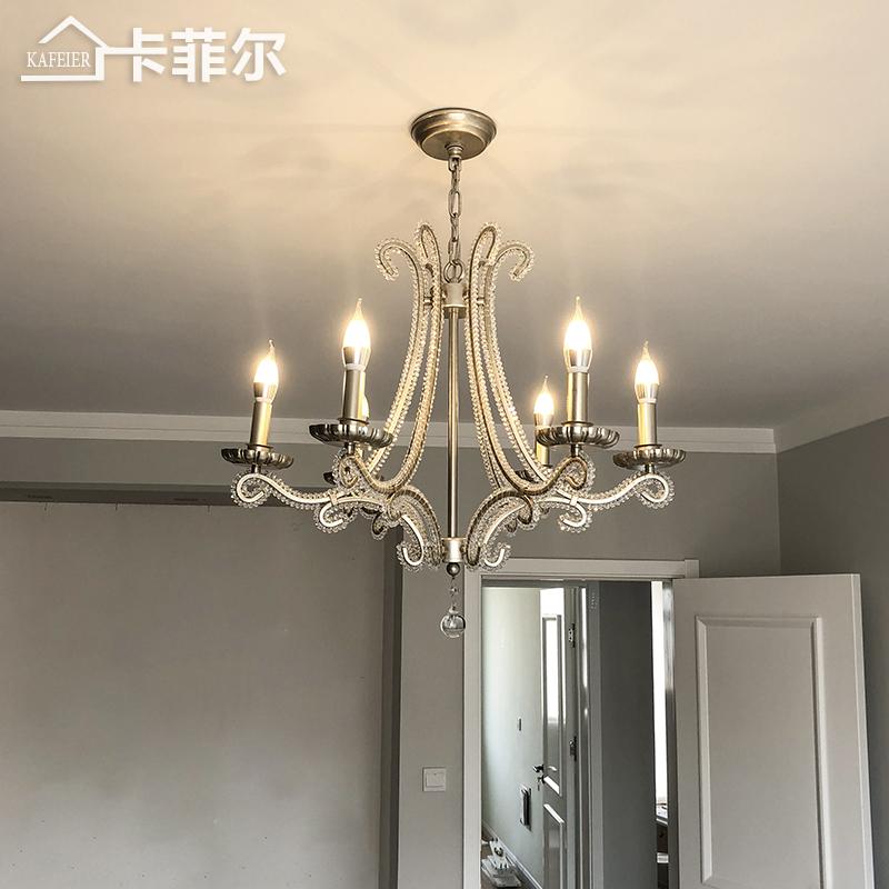 具复古蜡烛卧室水晶灯