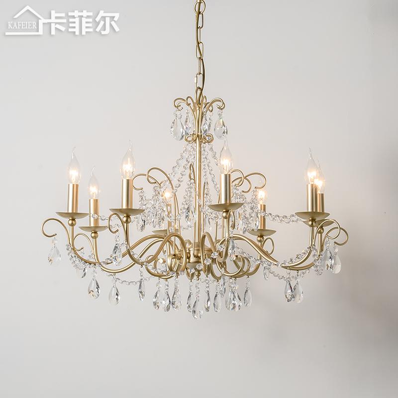 性灯具简约卧室水晶灯