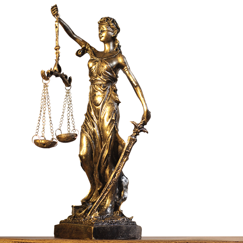 希臘正義公平女神復古工藝家居飾品擺件歐式創意懷舊咖啡廳雕塑像