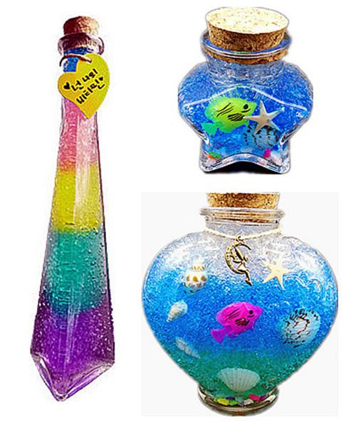 星空星云diy彩虹海洋瓶许愿瓶海绵宝宝泡大珠全套材料包生日礼物