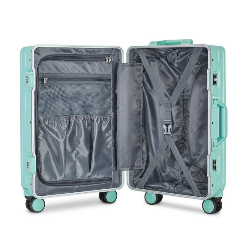 新款铝合金框糖利色潮男女小型拉杆登机箱学生密码皮旅行李箱 2020