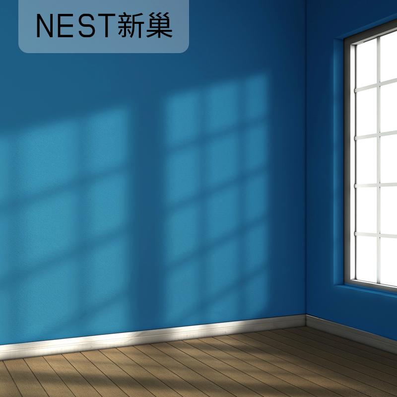 森系溫馨純素色家用大學生宿舍寢室壁紙 ins 北歐風格現代簡約墻紙