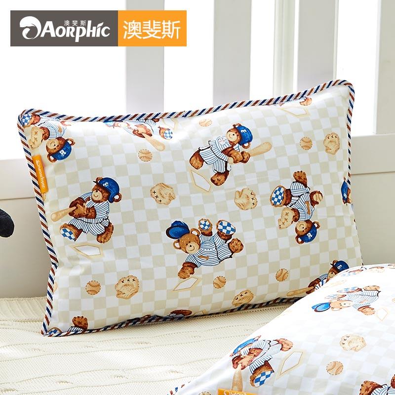可爱卡通全棉儿童枕套纯棉枕头套婴儿宝宝小枕芯夏天单人一对39元