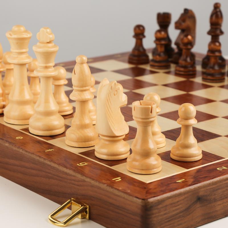 国际象棋实木高档套装大号儿童木质折叠棋盘西洋棋比赛专用chess