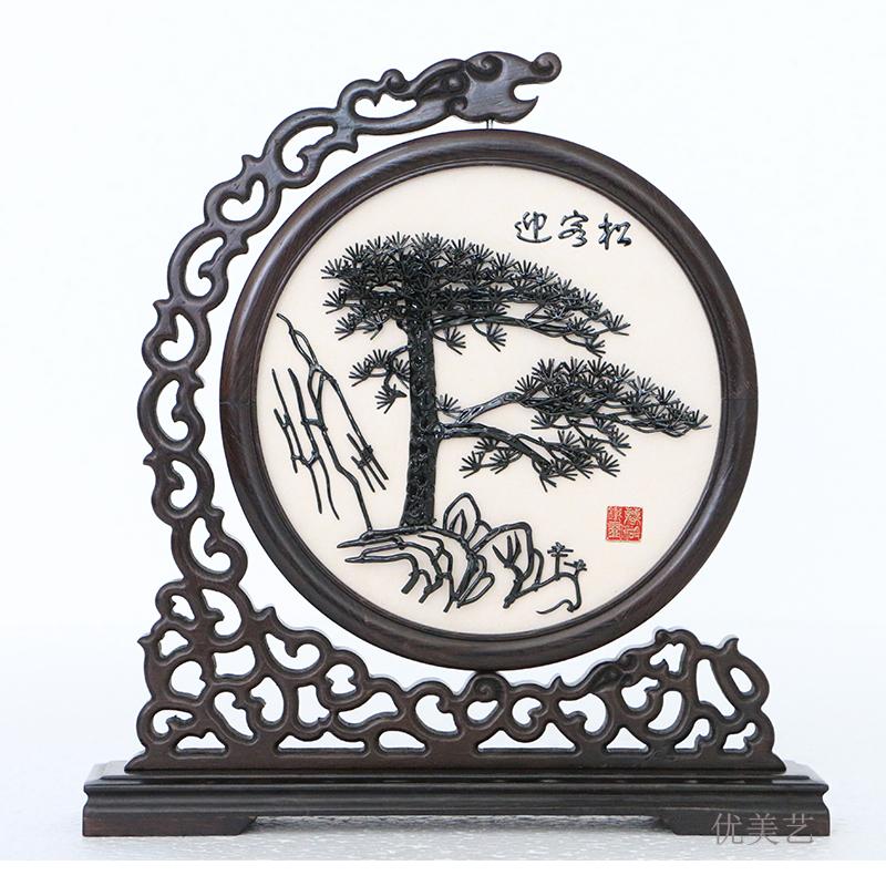 芜湖铁画迎客松 马到成功 纯手工 礼品 纪念品 中国风 安徽 特产