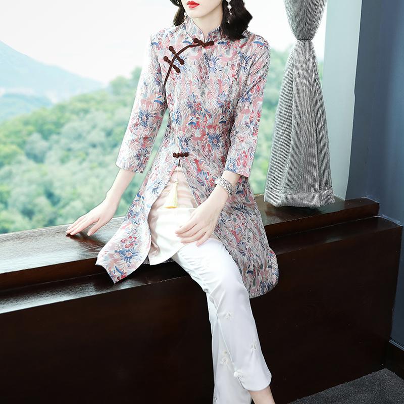 唐装旗袍改良版连衣裙