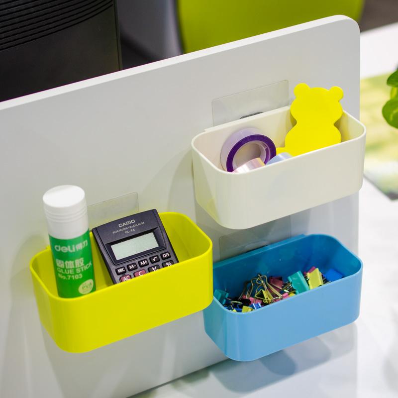納川正品 多功能掛式收納盒置物盒儲物盒DIY整理盒魔力貼盤不留痕