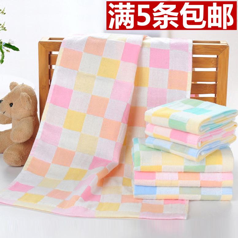 純棉毛巾洗臉紗布兒童毛巾柔軟吸水嬰幼兒寶寶巾面巾口水巾批發