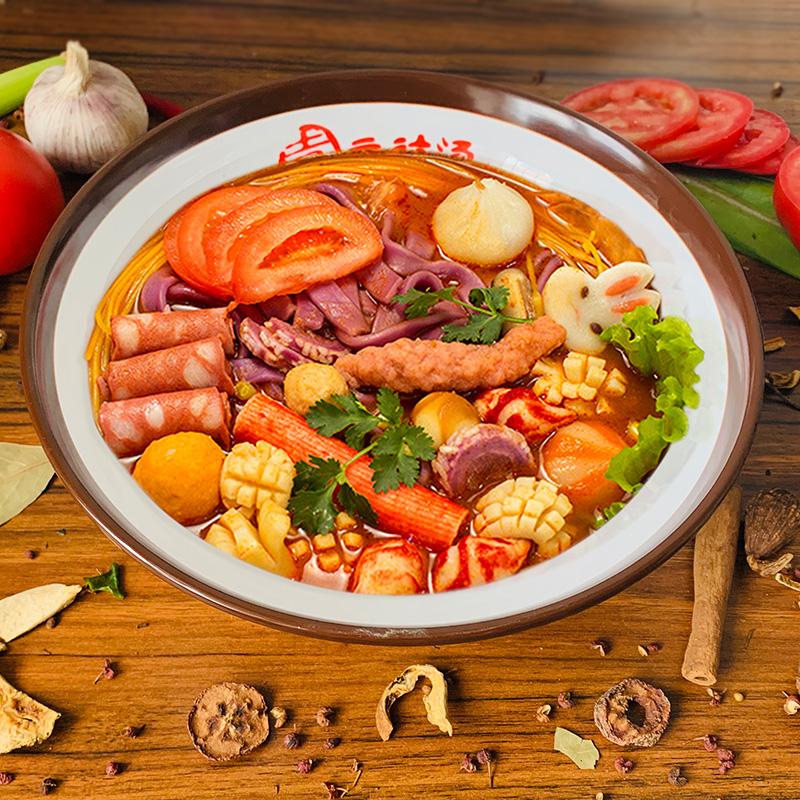咖喱 番茄 老坛酸菜激情麻椒啵啵鱼杨  福张亮麻辣烫口味东北骨汤