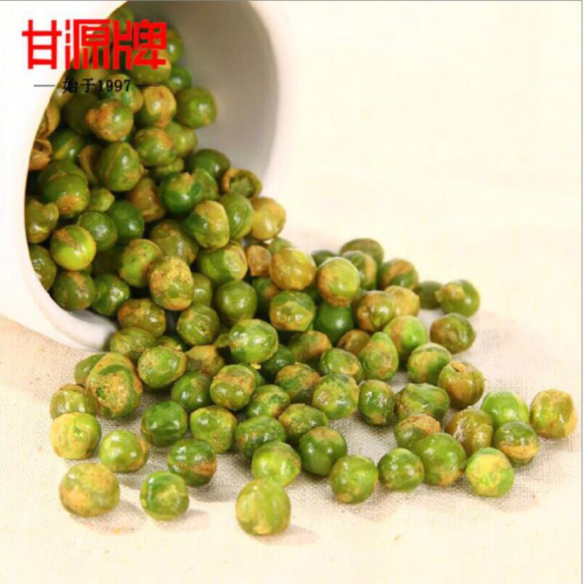 甘源蒜香青豆甘源牌青豌豆5斤批发小包装青豌豆零食多口味整箱