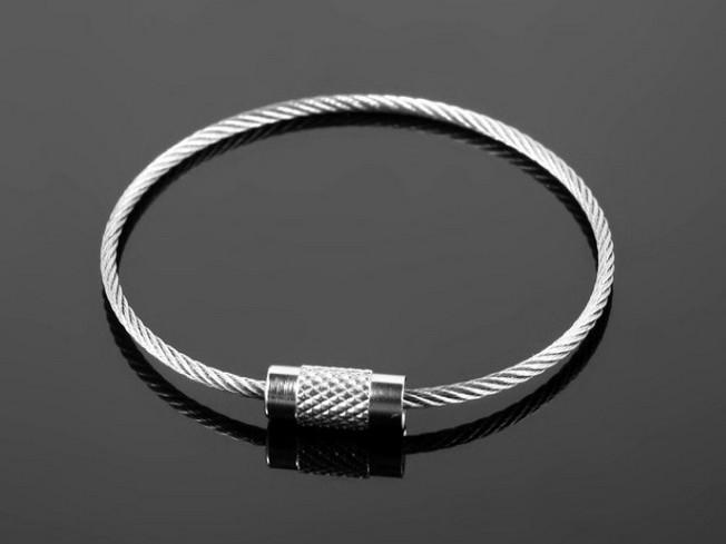 满9.9元包邮钢丝圈钥匙扣钢丝绳圈钢丝线圈多功能不锈钢钢丝挂扣
