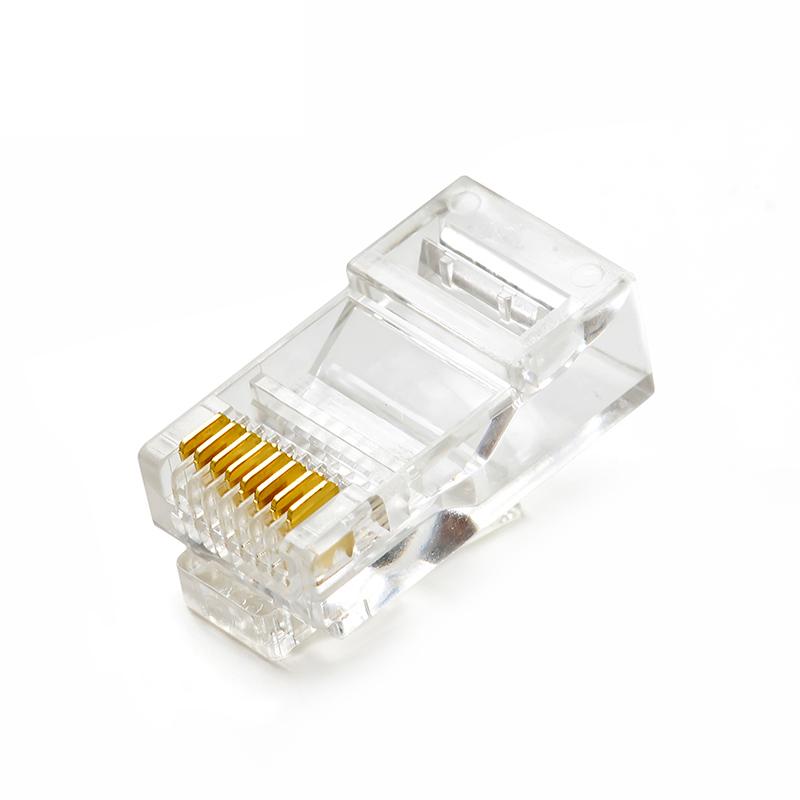 腾飞纯铜网络连接头电脑网络线接头超五类8p芯rj45网线水晶头包邮