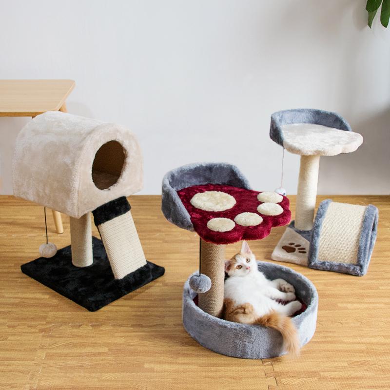 猫咪玩具猫架猫爬架猫架子猫窝一体猫抓柱猫树猫跳台猫爬柱小型