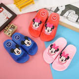The new children's cartoon cute boys and girls summer slippers indoor home paternity slip soft bottom slippers word drag