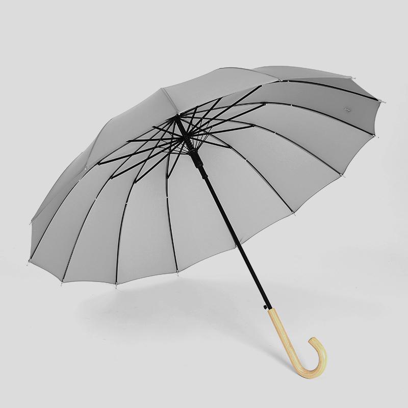文藝小清新長柄雨傘女神情侶自動森系大號加固雙人男學生晴雨兩用