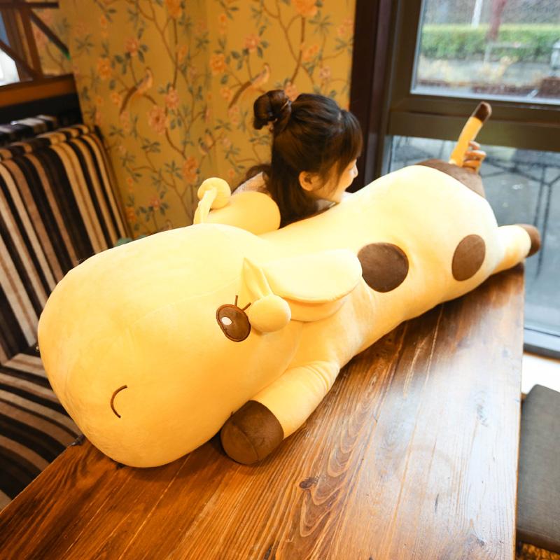 可爱长颈鹿公仔毛绒玩具玩偶抱着睡觉长条抱枕布娃娃女生生日礼物