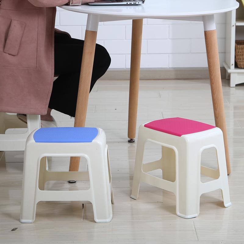 好尔塑料凳子加厚成人浴室小板凳家用方凳换鞋凳儿童矮凳餐桌高凳