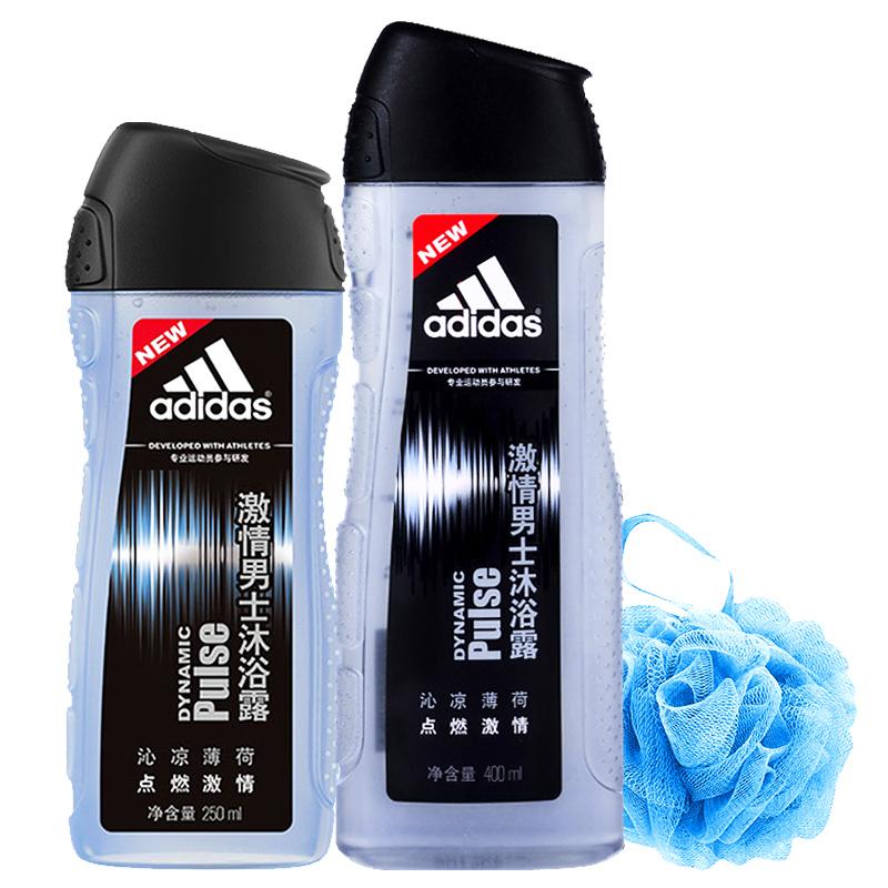 套装 250ml 400ml 阿迪达斯男士香体沐浴露热情身体护理清洁 Adidas
