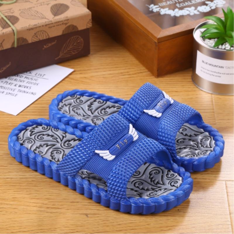 韩版家居拖鞋男夏室内防滑家用厚底一字拖男女软底舒适情侣凉拖鞋