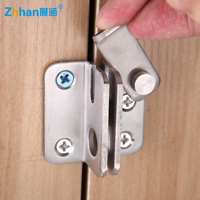 加厚不锈钢插销 明装搭扣锁小柜门锁 移门锁扣挂锁 防盗安全门栓