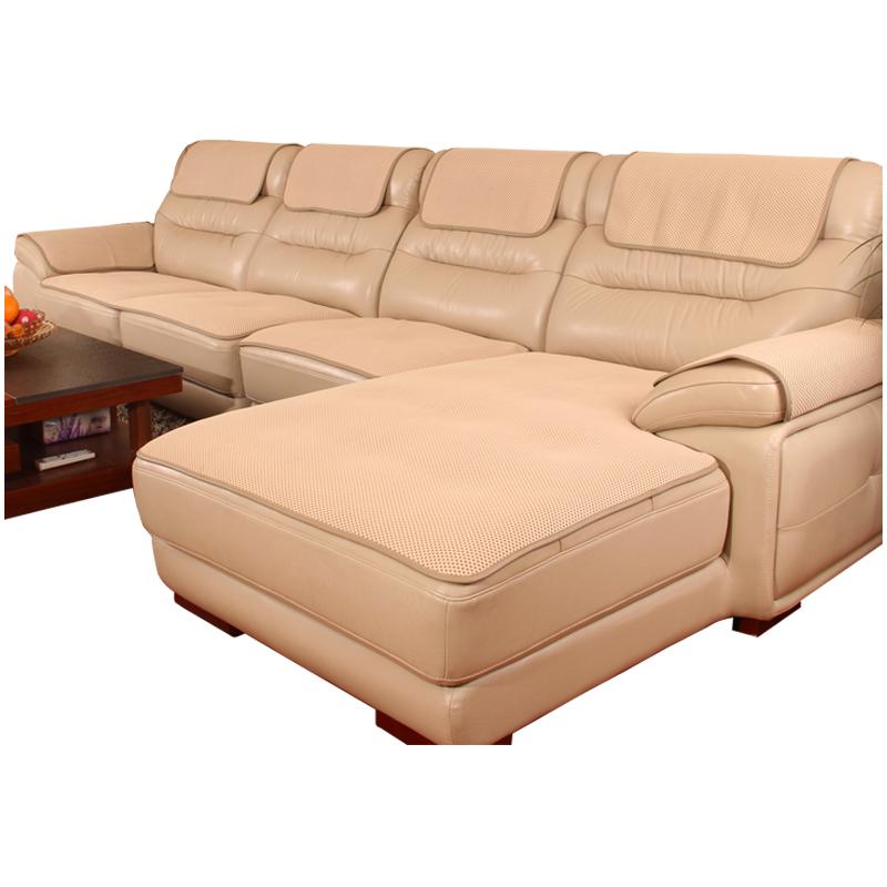 真皮沙发垫防滑四季通用坐垫子欧式简约客厅组合布艺沙发套罩定做