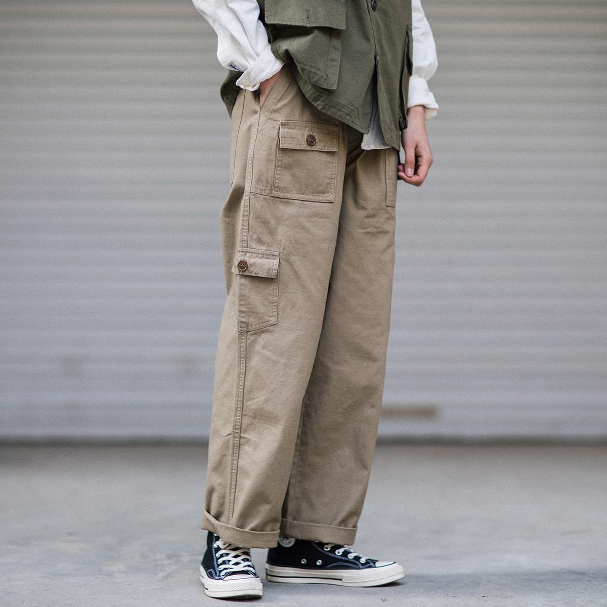 BF  男女同款宽松休闲裤 风中姓直筒工装裤 Epicsocotra 美式阿美咔叽