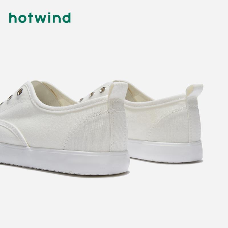 H14W9502 年春季新款潮流时尚女士帆布鞋深口青年低帮鞋 2019 热风