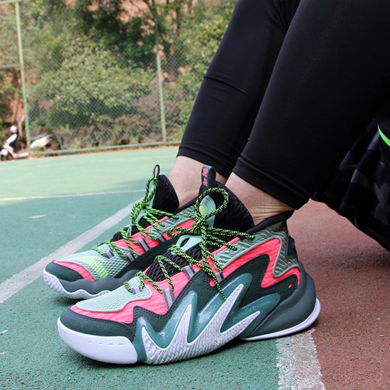 安踏篮球鞋男夏款要疯4代狂潮2代外场水泥克星高帮耐磨篮球战靴