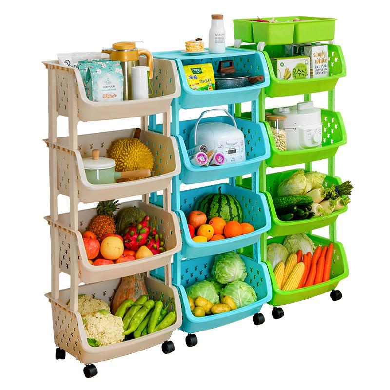 厨房置物架落地式用品家用大全夹缝放蔬菜篮子菜筐玩具收纳架神器