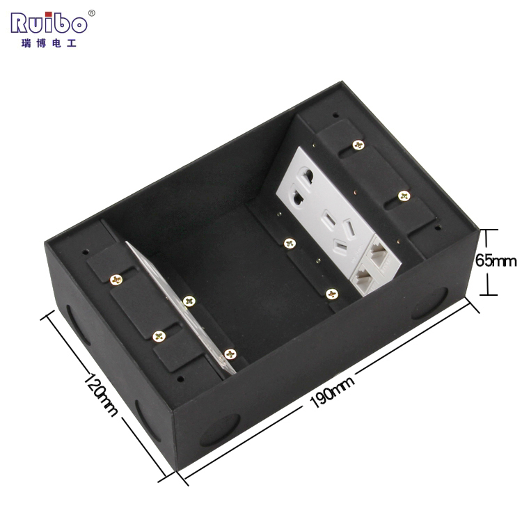 瑞博开启侧插隐藏式地插座不锈钢防水 五孔电话电脑地板地面插座