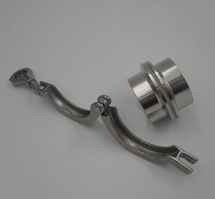 304快装卡箍/卫生级卡箍/不锈钢管件/快装接头/卡盘/精铸卡箍/