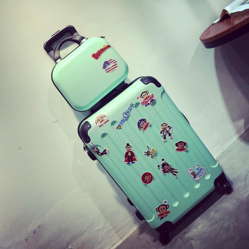 韩版行李箱拉杆箱女旅行箱20寸万向轮子母箱可爱小型密码学生24潮