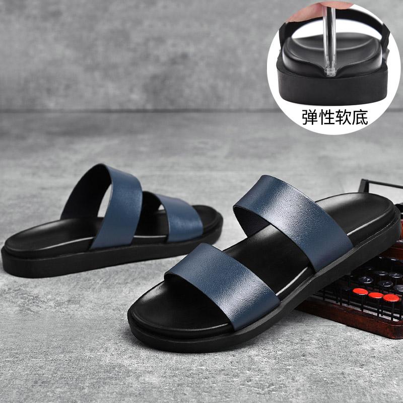 男士拖鞋新款夏季2019新品网红皮凉鞋两用室外穿休闲凉拖潮流百搭