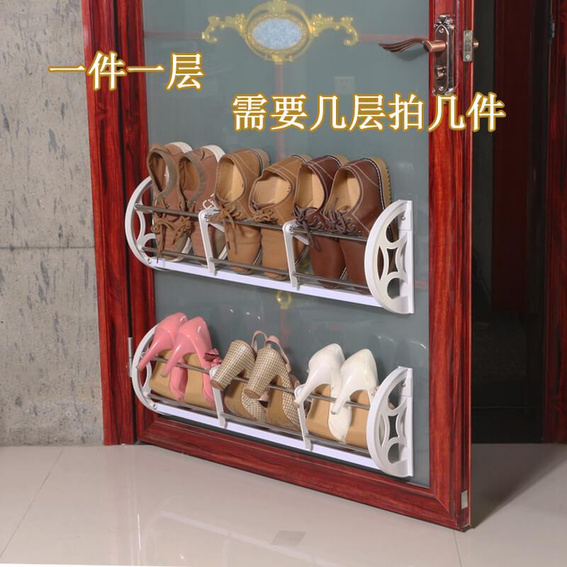 新品免钉门后鞋架挂式墙壁拖鞋架白色简易悬挂小户型家用经济型