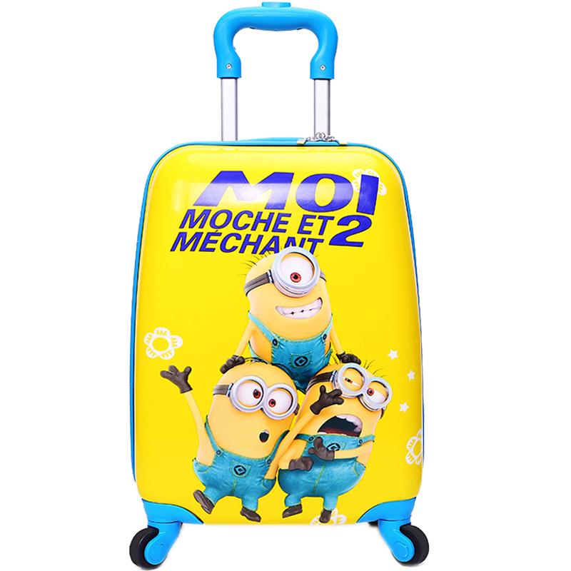 寸 20 寸拖箱 16 寸卡通儿童拉杆箱旅行箱女男童拉杆箱 18 小黄人拉杆箱
