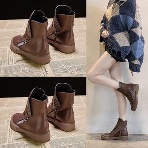 马丁靴女靴2019年新款秋款复古秋季英伦平底鞋子薄款潮鞋短靴子女
