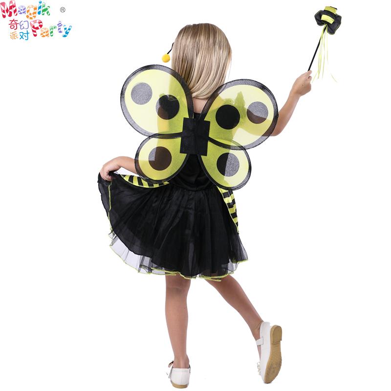 万圣节儿童演出服装Cosplay表演衣服女童蝴蝶黄蜂蜜蜂美人鱼仙子