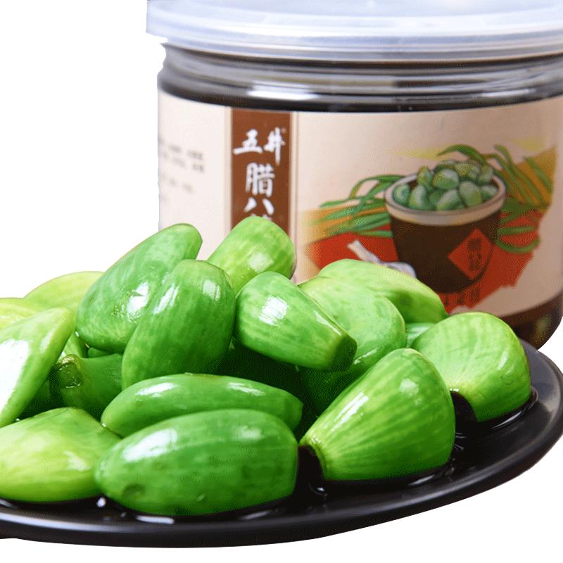 腊八蒜400g*3瓶 绿蒜醋泡蒜糖蒜翡翠腌大蒜头山东特产下饭酱菜 (¥38)